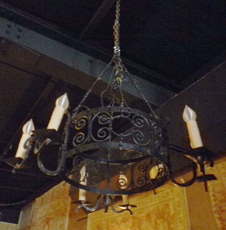 Beautiful French Scrolled Iron Chandelier Turn Of The Century Antique And Vintage Chandeliers Lighting On Al Gulf Coast