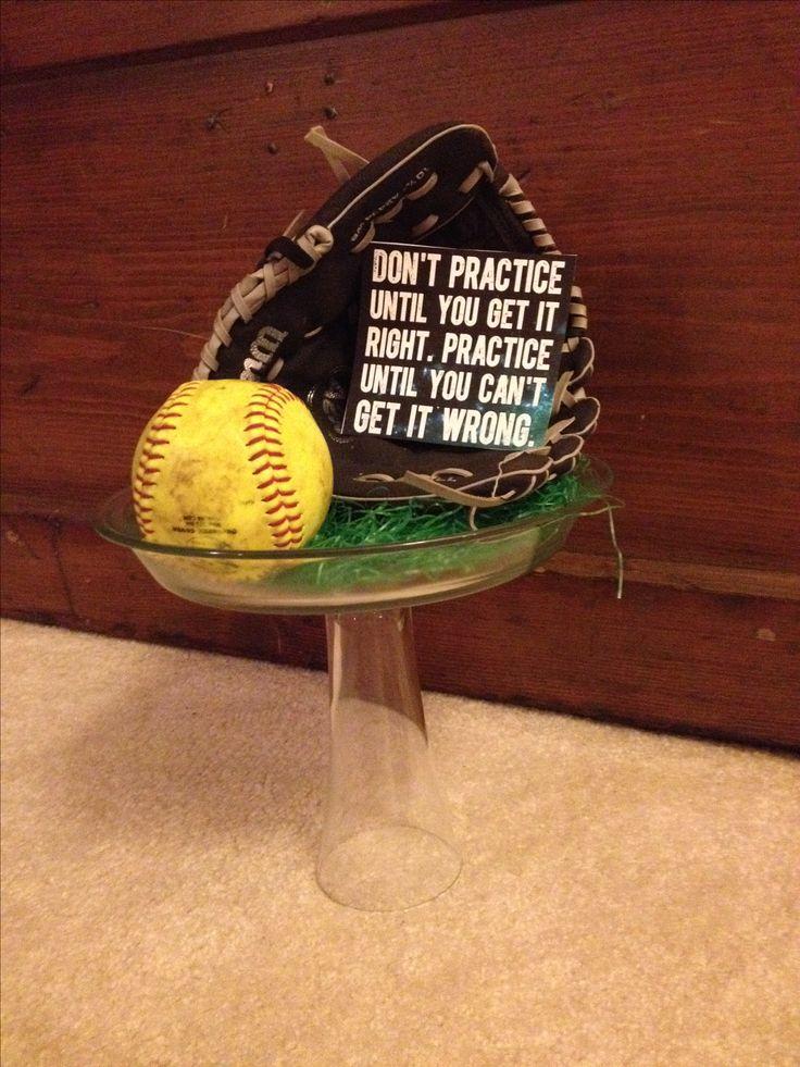 Centerpiece for softball spaghetti dinner.