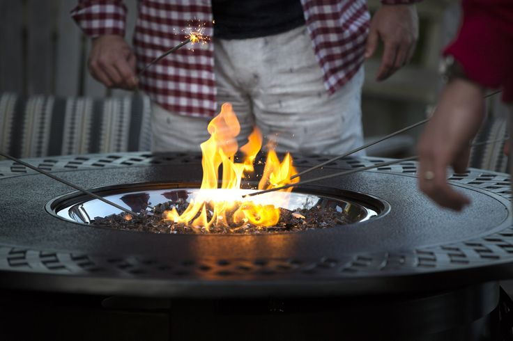 There is something to be said about gathering around a roaring fire. With a Napoleon Patioflame Table or Patioflame you can have the campfire/fire pit experience in your backyard without the mess and work, or regulations, of a real wood fire.
