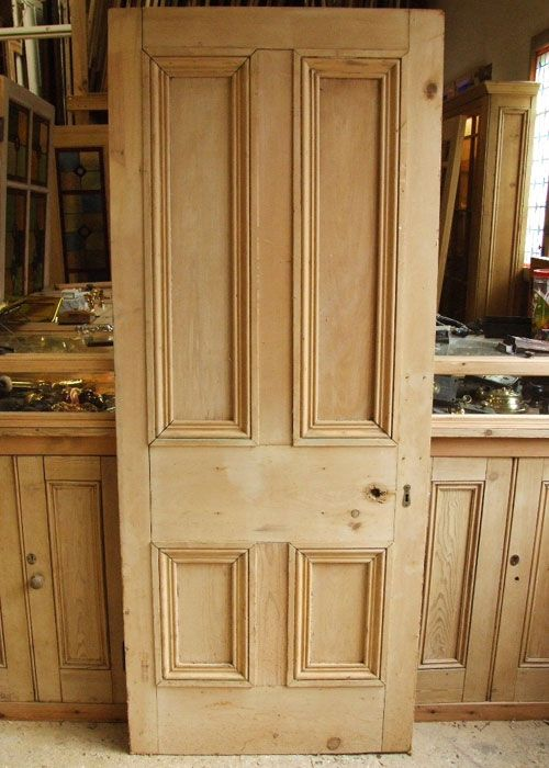 Old Pine Victorian Internal Door Stained Glass Doors