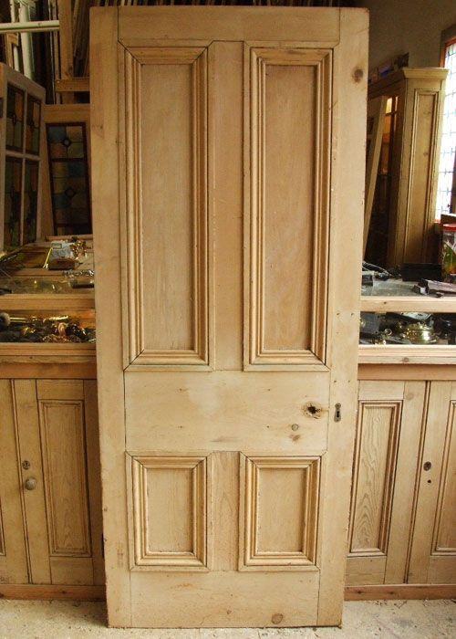 Old Pine Victorian Internal Door - Stained Glass Doors Company