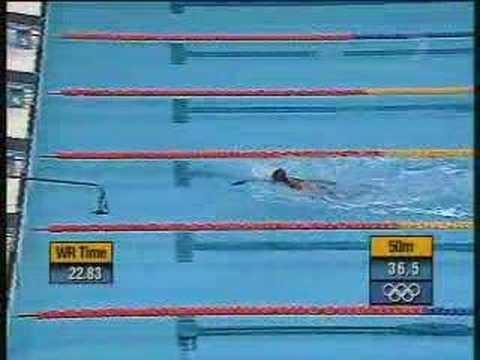 "Eric Moussambani's ""race"" at the Sydney Olympics in 2000."