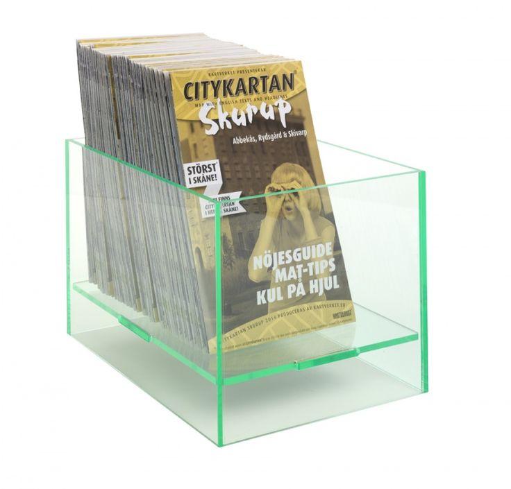 Boîte de présentation avec fond surélevé, glass look