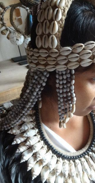 Shell and Beads Headdress Women Fashion Adornment Island Home