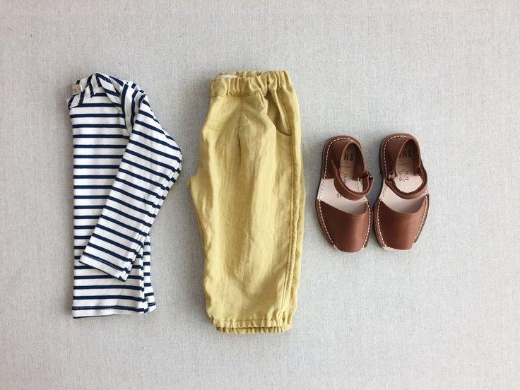 james beach pants in citron double gauze