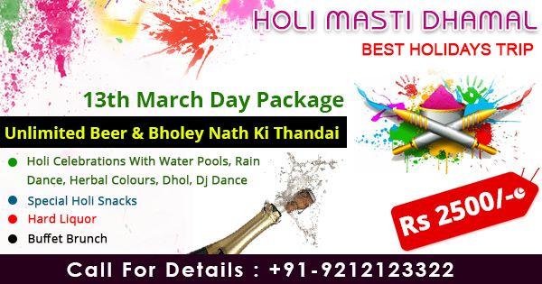 Aravali Resort Rewari Holi Celebration packages Near Book now