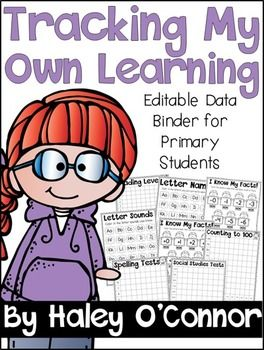 D Binder Editable Data Binder I created this data binder to have my first graders track their own learni