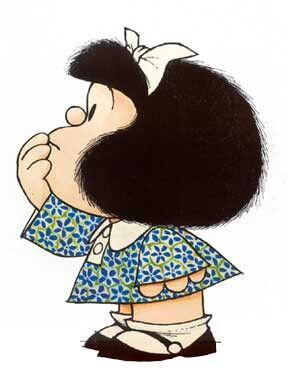 Mafalda, our lovely and smart cartoon heroine - www.elpasajespanish.com