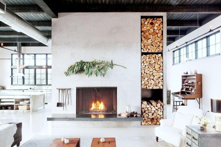 Design Kaminofen gemauert für modernes Wohnen -48 Bilder   Kamin ...