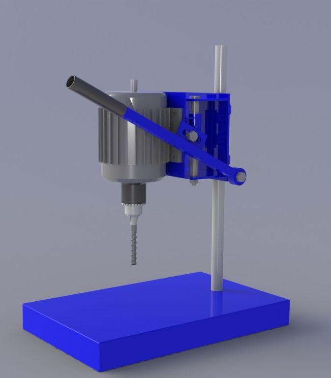 сверлильный станок - STEP / IGES, Kompas-3D - 3D модель - GrabCAD
