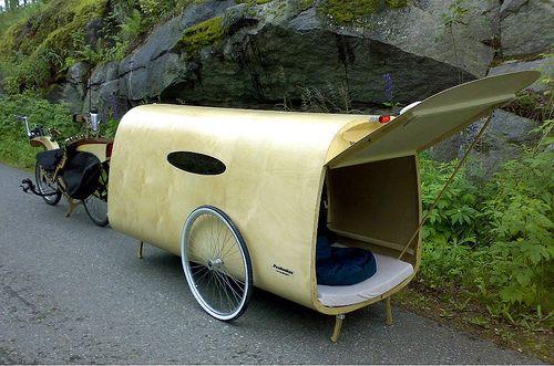 Bike mobile home. Vacation!