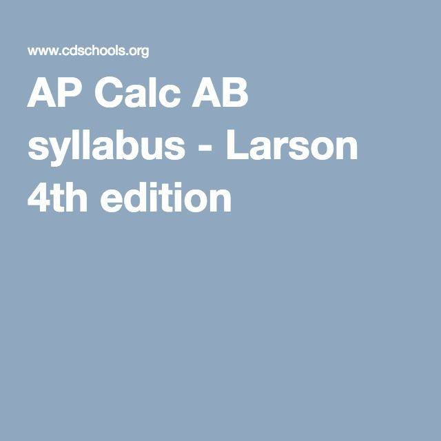 48 best ap calculus images on pinterest math mathematics and ap ap calc ab syllabus larson 4th edition fandeluxe Gallery