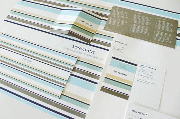 Bonvivant Restaurant, Basel, Switzerland. 2006. Design by Joe Scerri. #branding #restaurantbrand #lines #identitydesign #design #graphicdesign