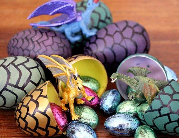 Having a Game of Thrones party? Make these DIY Game of Thrones dragon eggs.