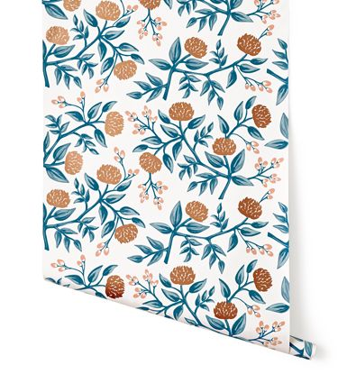 Peonies Copper | Rifle Paper Co. Wallpaper