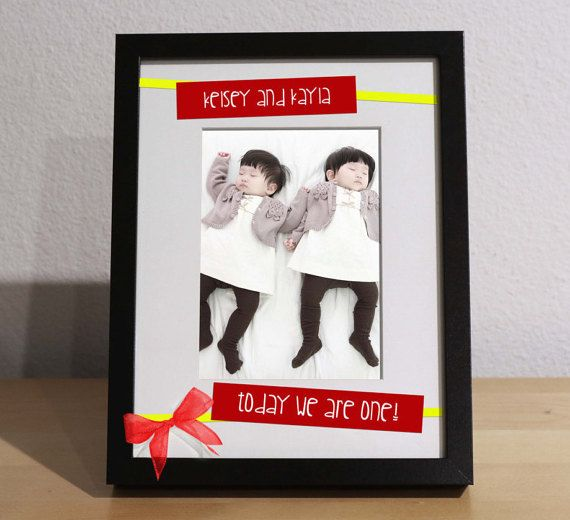Twins Birthday Gift FIRST BIRTHDAY gift by KimKimDesigns on Etsy
