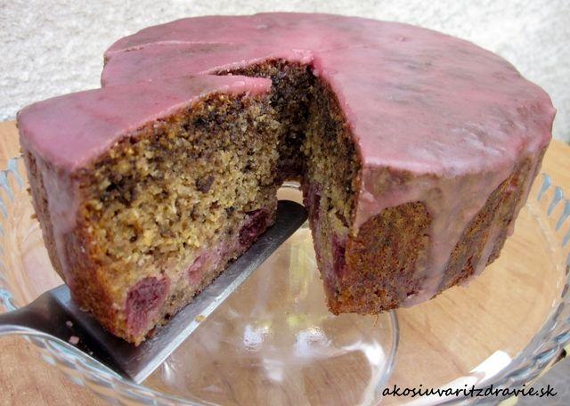 Torta z polenty s višňami – bez lepku