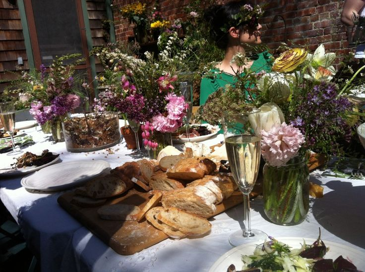 Food and Flowers at Kinfolk's Flower Potluck