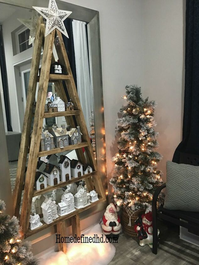How To Make Diy Wood Christmas Tree Shelves Wood Christmas Tree Wooden Christmas Trees Traditional Christmas Tree