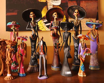 Catrina dolls have become an essential part of the Day of the Dead. The dolls, which show skeletons dressed up in beautiful gowns and often adorned with or carrying flowers, are some of the most commonly seen sights in towns around Mexico during the November holiday. The annual celebration, which honors ancestors, employs many visual elements, and few are more striking than these stylized skeletons.