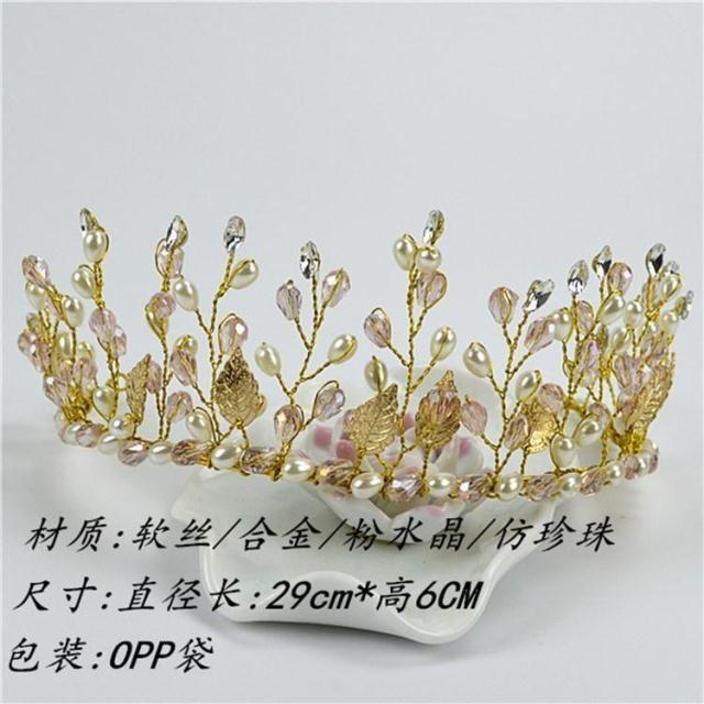Новый свободный кристалл доставка жемчуг свадебные аксессуары для волос золотой лист цветок ленты для волос волосы ведущих в стиле барокко свадьба с ювелирные изделия - Taobao
