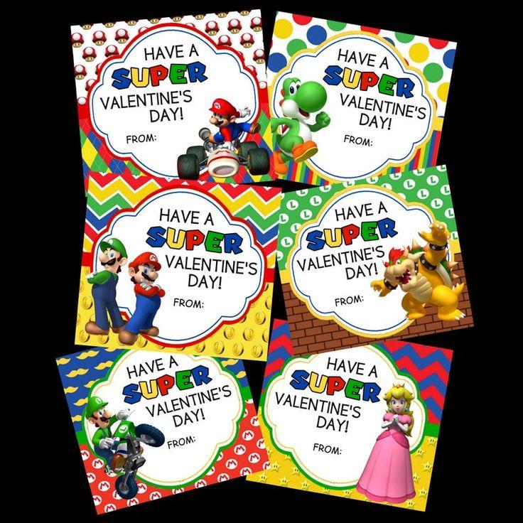 Buy 2 sets get 1 free set mario valentines day card
