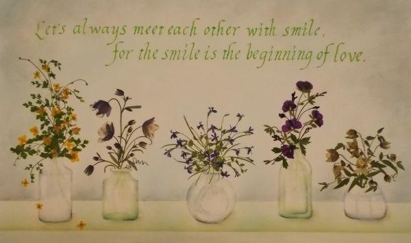 花瓶の花たち - さくら 吹雪の 押し花アトリエ プチ フルール