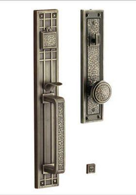 Superior Brass Baldwin Archetypes Craftsman Handleset. Front Door HardwareFront ...