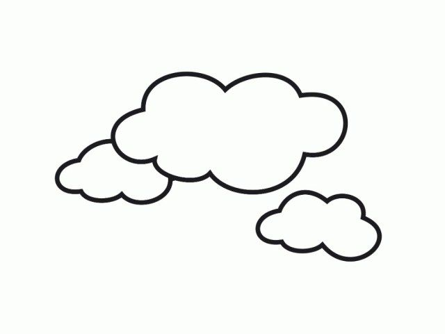 25 Amazing Photo Of Cloud Coloring Page Coloring Pages For Kids