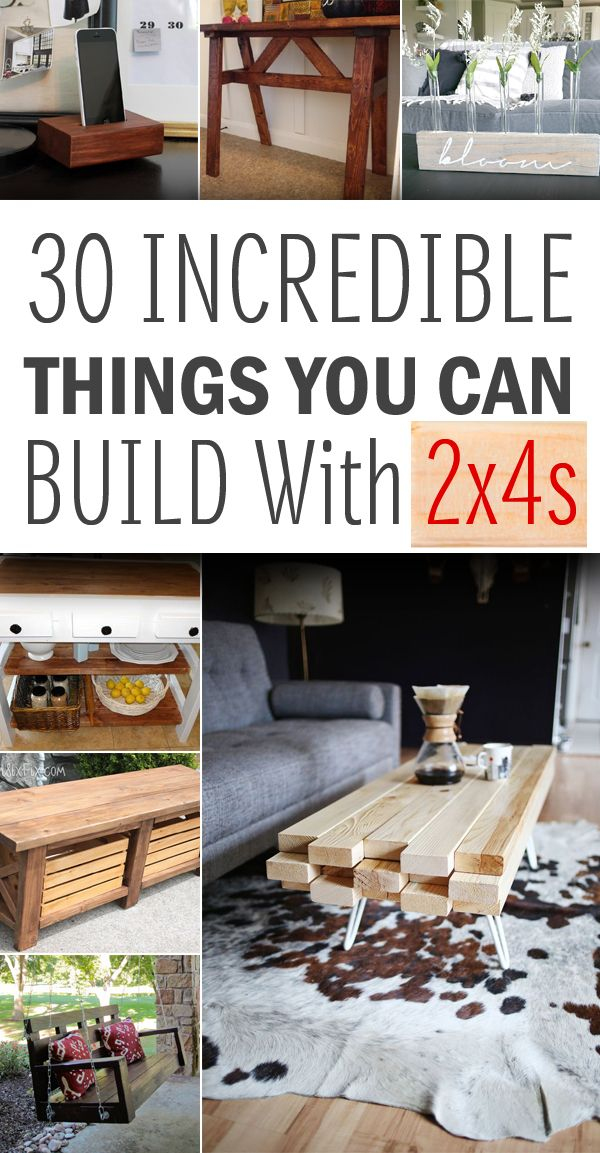 DIY Woodworking Ideas 30 Awesome Things You Can Build With 2x4s