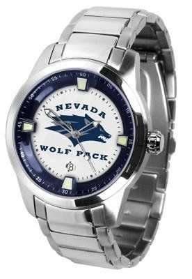 University of Nevada Reno Men's Stainless Steel Outdoor Watch by SunTime. $127.95. Men. Officially Licensed Nevada-Reno UNR Wolf Pack Men's Stainless Steel Outdoor Watch. Links Make Watch Adjustable. AnoChrome Bezel. Stainless Steel. Nevada-Reno Wolf Pack men's stainless steel dress or sports watch. Nevada-Reno Wolf Pack timepiece features a quartz accurate movement, stainless steel band and your favorite collegiate logo. The Titan Steel's stylish design enabl...