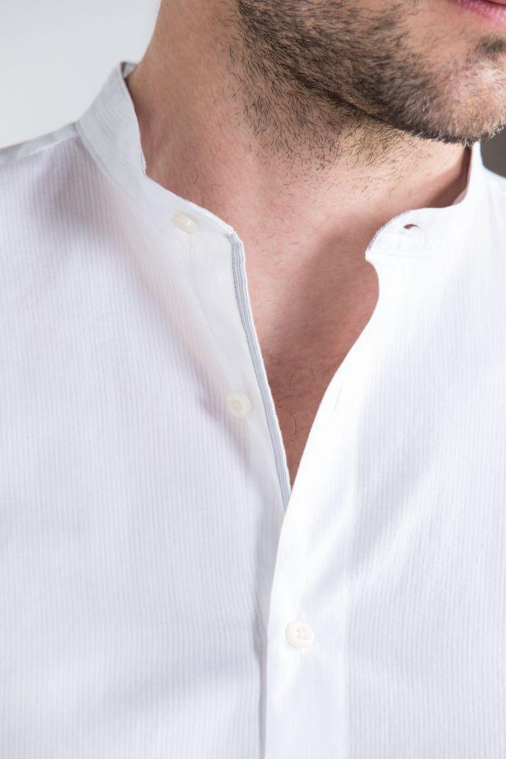 Camisa cuello mao | Hombre | Fifty Factory