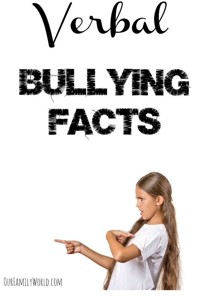 As bullying takes different forms, these verbal bullying facts are going to shed some light on areas you may need to teach your children to be more alert about bullies.