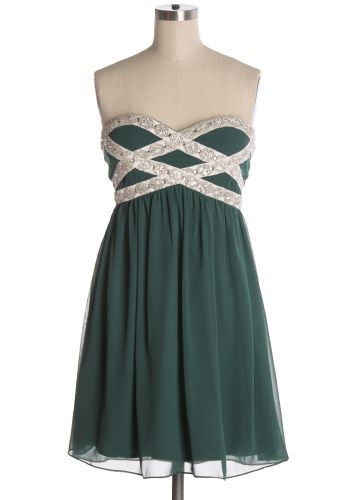 All eyes are on you in this beautiful strapless dress with chiffon fabric and rhinestone detailing. Great for any formal occasion! Bust pads. Back zipper. 100% polyester Not stretchy Lined Indie, Retro, Party, Vintage, Plus Size, Convertible, Cocktail Dresses in Canada All Eyes on You Dress in Green -