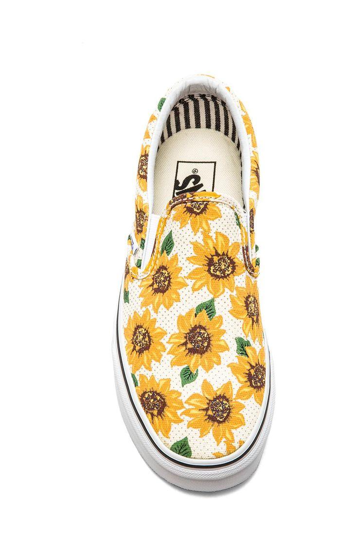 Vans Classic Sunflower Slip On in True White