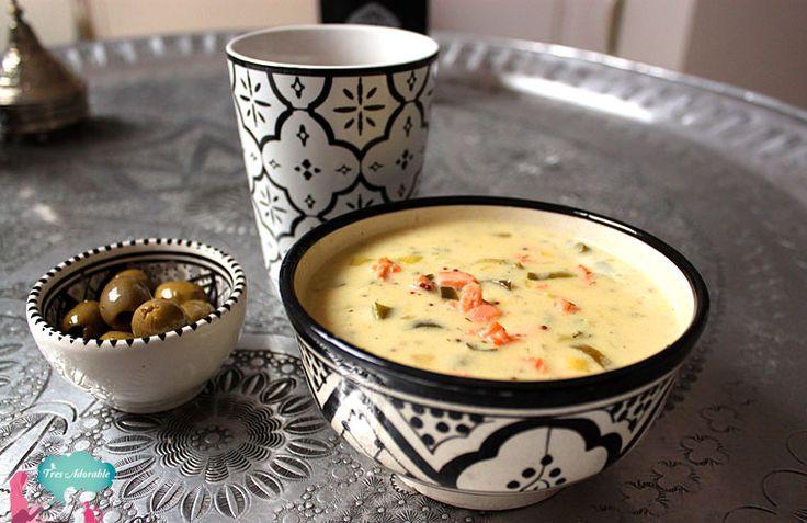 Recept: Mosterd Soep Met Gerookte Zalm & Prei