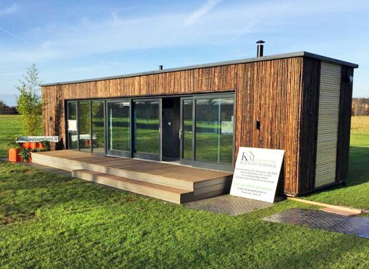 Ireland's first shipping container home was completed in just three days. Built by a team of volunteers, the low-cost house boasts a modern finish and is partially powered by solar panels. http://inhabitat.com/irelands-first-shipping-container-home-was-built-in-just-three-days/