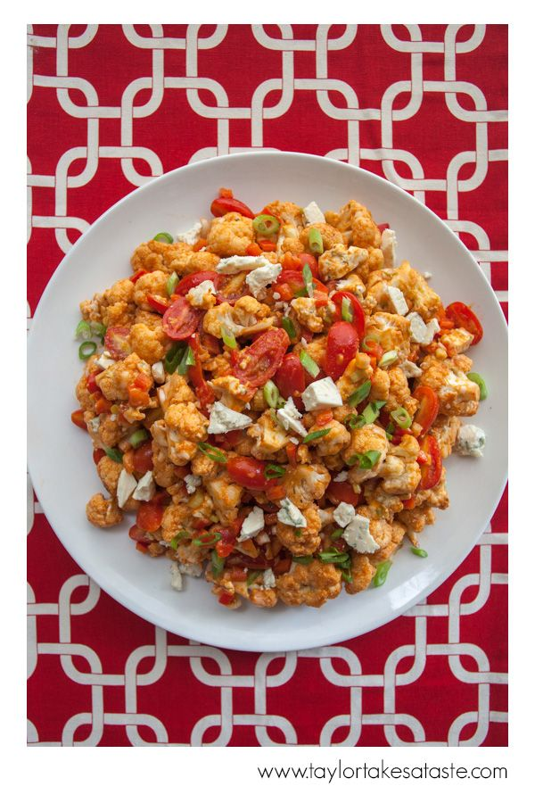 Tabasco Roasted Cauliflower Salad is a great side dish for any tailgating meal! Give it a try at your tailgate this fall!
