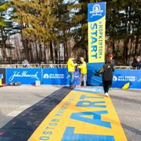 How to Qualify for the Boston Marathon. One day, I hope I will have a blue and yellow jacket and medal to match