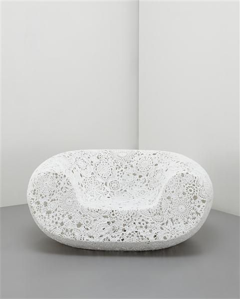 Marcel Wanders | 'Crochet' chair, 2006. Crocheted fiber, epoxy resin. Limited Edition.