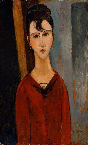 アメデオ・モディリアーニ 《婦人像(C.D.夫人)》 1916年頃