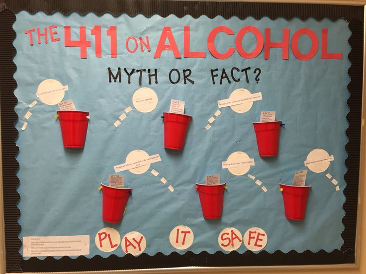 Bulletin board I made for alcohol awareness!! #RA #RALife