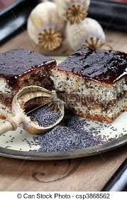Znalezione obrazy dla zapytania mák dort