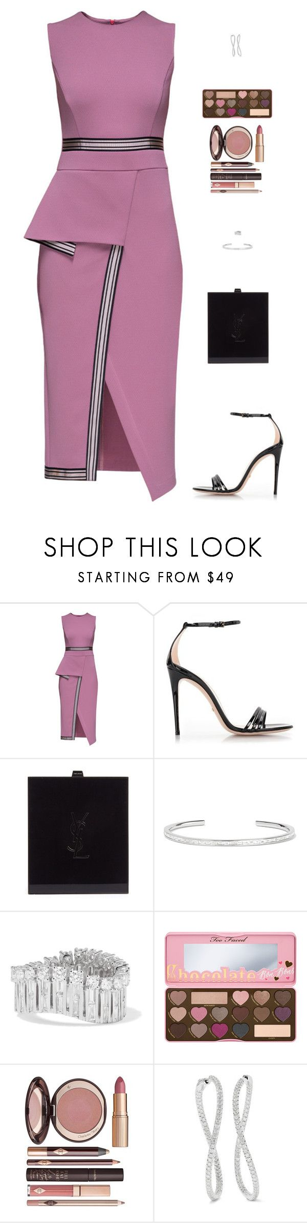 """Untitled #5055"" by mdmsb on Polyvore featuring Lattori, Gucci, Yves Saint Laurent, Anita Ko, Too Faced Cosmetics and Charlotte Tilbury"