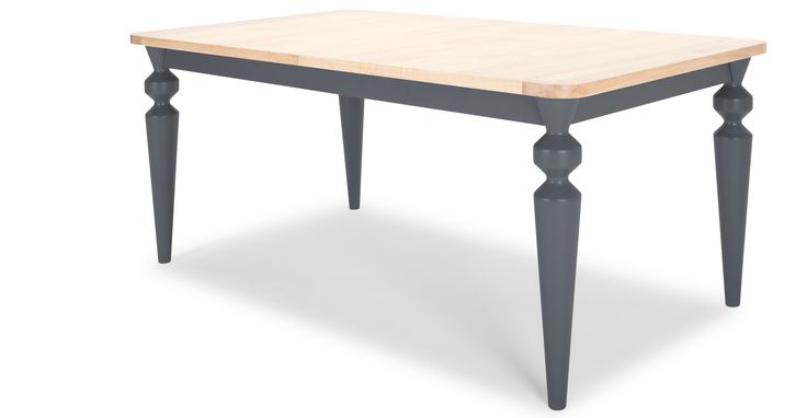 Betty Extending Dining Table, Oak and Grey | made.com