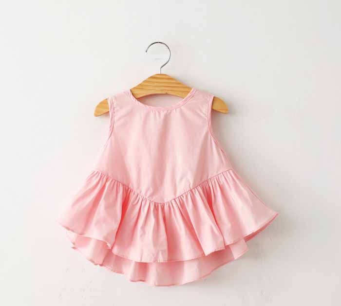 Summer 2015 casual girl ties back hollow out shirt toddler girl clothes kids summer cotton shirt pink / white T Tees Baby on AliExpress.com | Alibaba Group