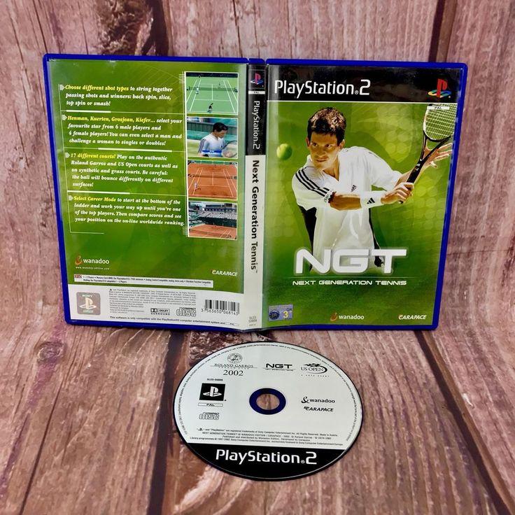 Ps2 video Game NGT Tennis 🎾 Next Generation Tennis PlayStation 2 VGC pal sports