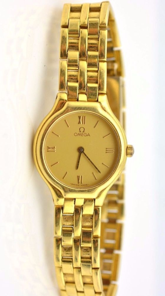 PRE-OWNED OMEGA DEVILLE 18K YELLOW GOLD LADIES WATCH. We are one of the largest scrap and jewelry dealers in the country. We are not collectors or unrealistic about our prices. We buy scrap gold, silver and platinum based on carat % and gram weight. | eBay!