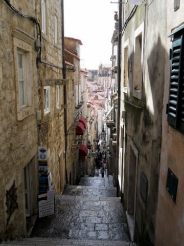 Looking down into the Old City