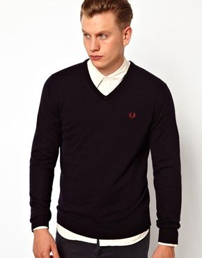 Fred Perry Jumper with V Neck